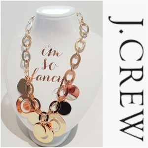 NWOT J. CREW GOLDEN CIRCLE ADJUSTABLE NECKLACE